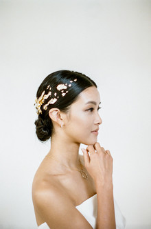 gold bridal hairstyle