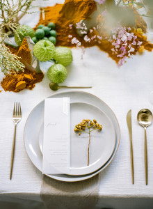 modern art gallery wedding table