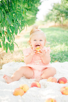 peach themed 1st birthday party