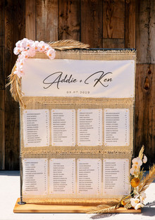 boho seating chart idea