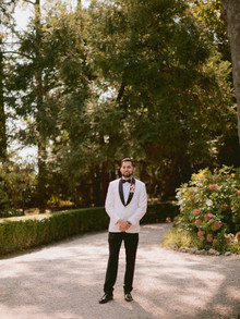 white tux from The Black Tux