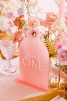 pin acrylic table numbers