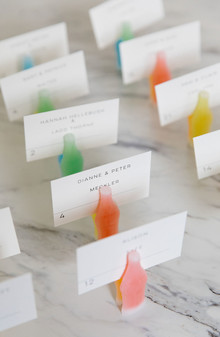 candy theme place cards