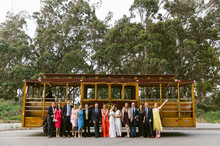 san francisco wedding with cable car