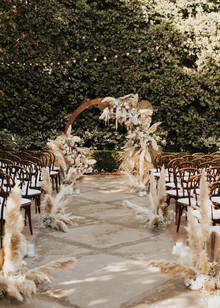 Pampas grass ceremony decor