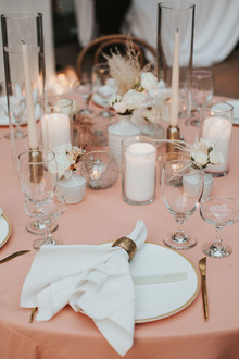 pink and white wedding colors