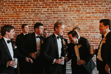Groomsmen in The Black Tux