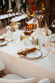 chic neutral place settings