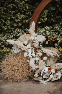 Pampas grass ceremony hoop