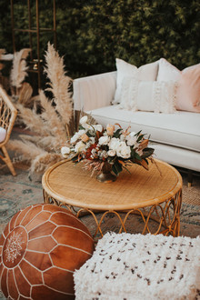 Boho glam wedding lounge