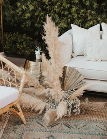 Bohemian pampas grass wedding decor