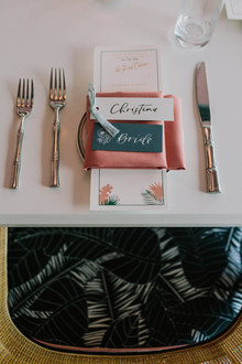 palm springs inspired place setting