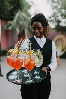 palm springs wedding cocktails