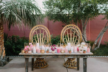 modern bohemian sweetheart table