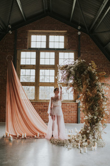dried floral wedding arch