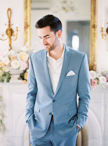 light blue groom's suit