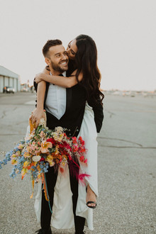 colorful coachella inspired wedding ideas