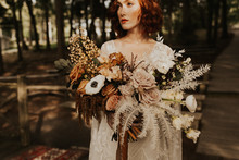 bohemian fall wedding bouquet