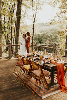 rust fall wedding tablescape