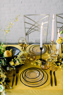 Yellow and blank wedding ideas