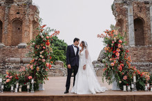 Sicily wedding at the ancient Greek theatre of Taormina