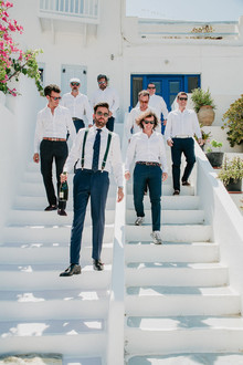 Groomsmen in Greece