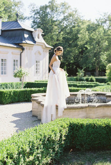 Light, flowy bridal gown