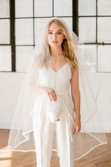 modern bridal jumpsuit