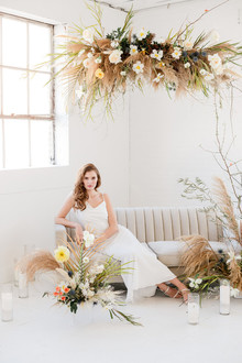 dried floral ceremony decor
