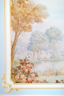 fine art painting at wedding venue