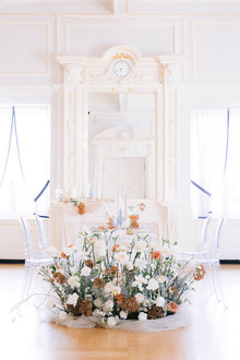 reception floral installation