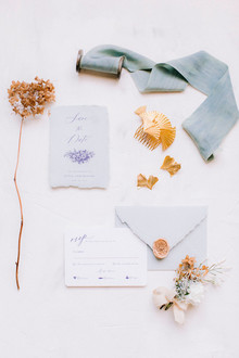 Something blue gold + blue wedding