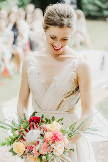 floral bridal gown