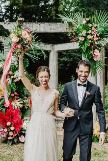 colorful tropical ceremony