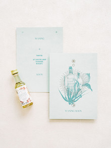 light blue wedding stationery