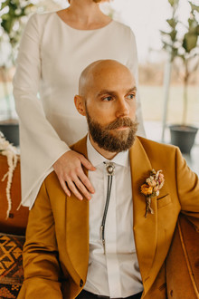 desert inspired groom