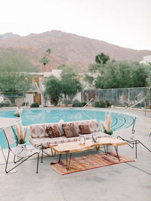 Palm Springs lounge area