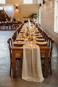 rustic, white reception