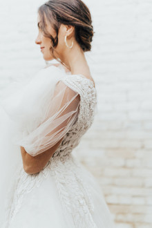 sheer sleeve wedding dress