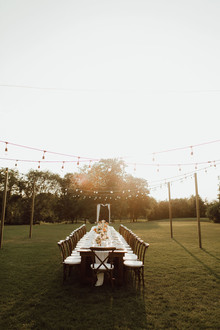 Backyard micro wedding