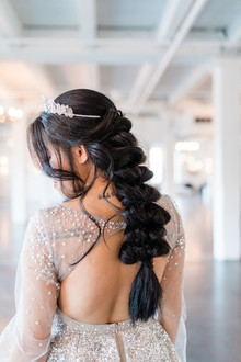 Fishtail bridal hairstyle