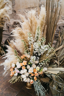 Boho wedding florals
