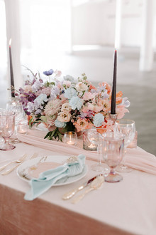 Bright wedding flowers