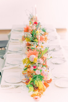 Colorful tablescape