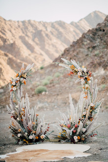 Desert micro wedding