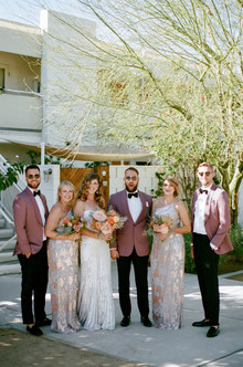 Palm Springs wedding party