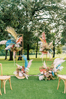 Modern outdoor wedding ceremony