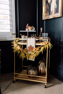 Fall bar cart