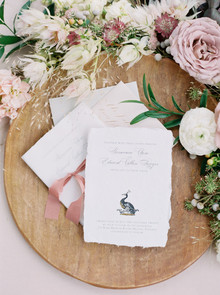 Romantic wedding invites
