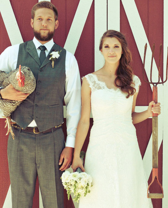 Farm Wedding Portrait